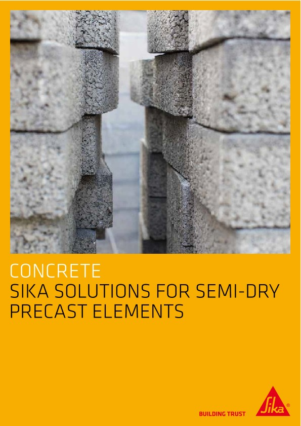 Sika Solutions for Semi-Dry Precast Elements