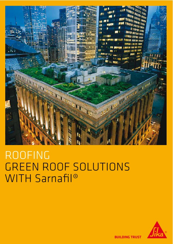 Green Roofs Solutions with Sarnafil