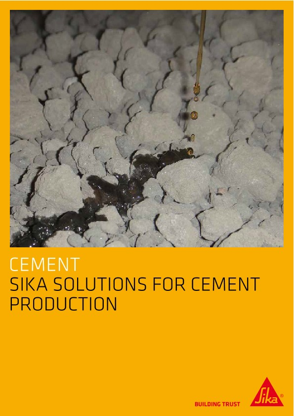 Sika Solutions for Cement Production