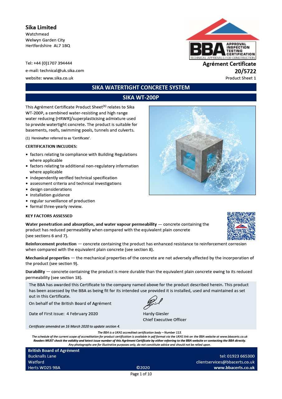 Sika WT-200 P_BBA Certificate March_2020